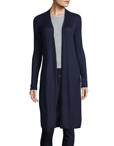 I.N.C International Concepts Ribbed Open Cardigan-BLUE-Small