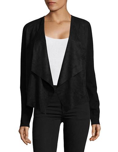 I.N.C International Concepts Moleskin Open Front Cardigan-BLACK-Small