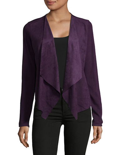 I.N.C International Concepts Moleskin Open Front Cardigan-PURPLE-X-Large