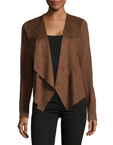 I.N.C International Concepts Moleskin Open Front Cardigan-BROWN-Large