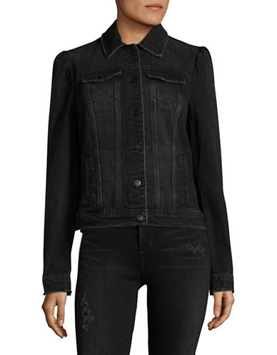 I.N.C International Concepts Denim Jacket-BLACK-X-Small