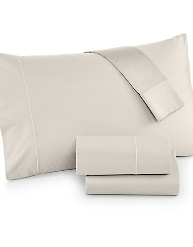 Hotel Collection Four-Piece 525 Thread-Count Cotton Sheet Set-IVORY-King