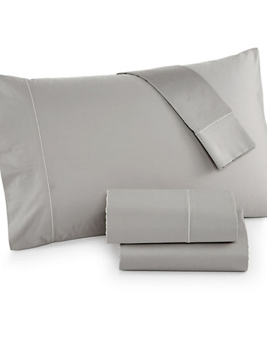Hotel Collection Four-Piece 525 Thread-Count Cotton Sheet Set-SMOKE-Queen