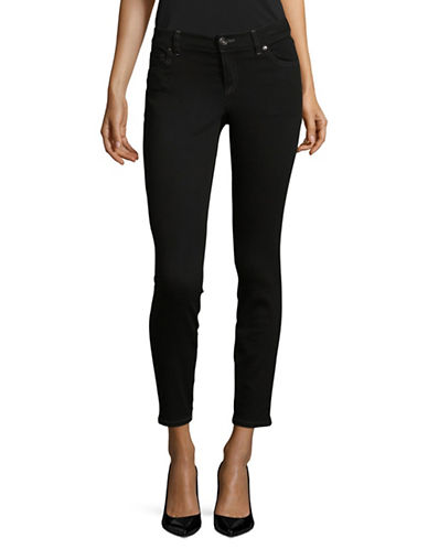 I.N.C International Concepts Petite Five-Pocket Skinny Jeans-BLACK-Petite 10