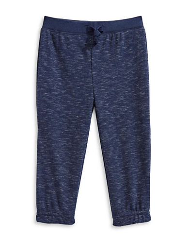 First Impressions Slub Marled Jogger Pants-BLUE-12 Months