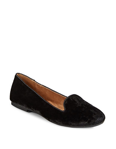 Style And Co. Alysonn Velvet Loafers-BLACK VELVET-7.5