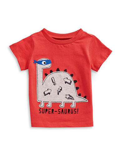 First Impressions Super Dino Cotton Tee-ORANGE-3-6 Months