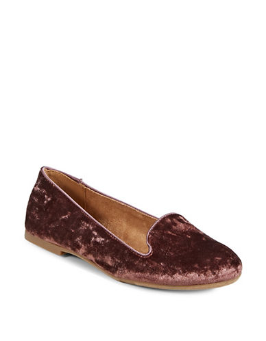 Style And Co. Alysonn Velvet Loafers-PASTEL RED-9.5