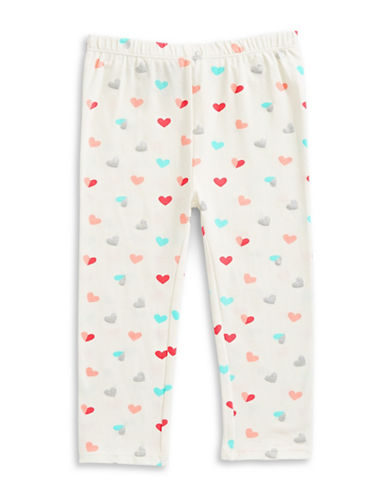 First Impressions Heart Leggings-BEIGE-24 Months