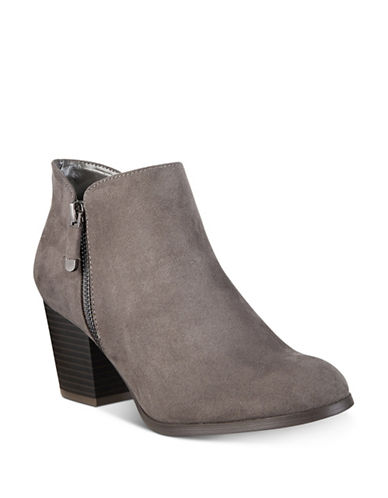 Style And Co. Masrina Zip Booties-GRANITE-9