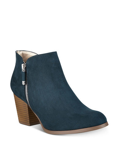 Style And Co. Masrina Zip Booties-TEAL-7.5