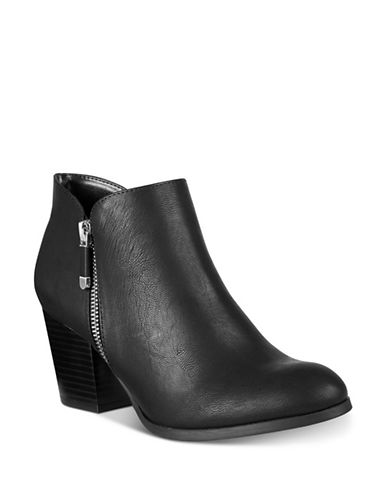 Style And Co. Masrina Ankle Boots-BLACK-9.5