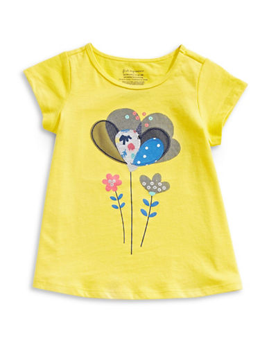 First Impressions Sweet Chic Flower Cotton Top-YELLOW-12 Months