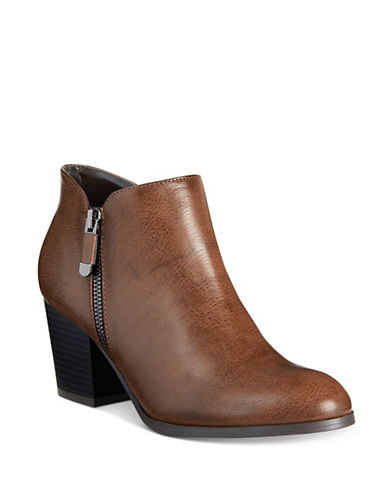 Style And Co. Masrina Ankle Boots-BROWN-10
