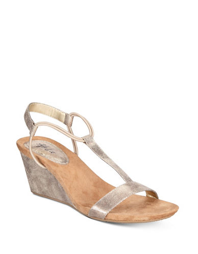 Style And Co. Mulan Wedge Sandals-GOLD-7