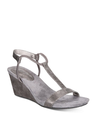 Style And Co. Mulan Wedge Sandals-PASTEL GREY-6.5