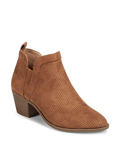 Style And Co. Myrrah Perforated Booties-TOFFEE-7