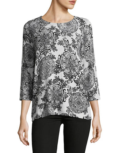 Karen Scott Detail Medal Top-GREY-XX-Large