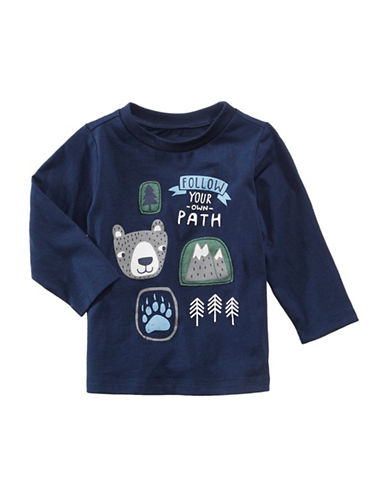 First Impressions Graphic-Print Sweater-BLUE-6-9 Months