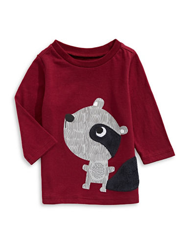 First Impressions Raccoon T-Shirt-RED-24 Months