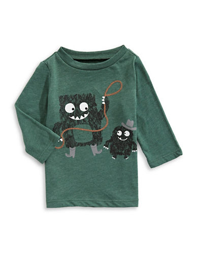 First Impressions Monster Cowboy T-Shirt-GREEN-3-6 Months