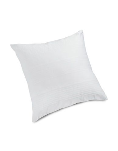 Hotel Collection Pleated Egyptian Cotton Cushion-WHITE-18 x 18