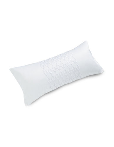 Hotel Collection Grid Egyptian Cotton Cushion-WHITE-One Size