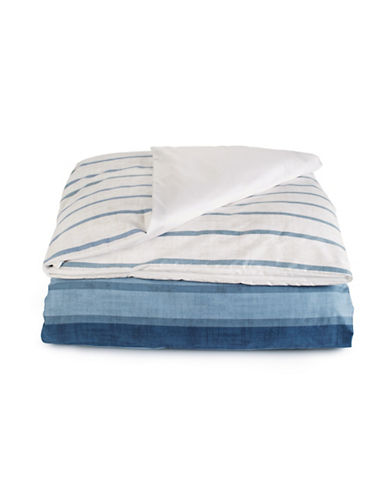 Hotel Collection Colonnade Indigo Duvet Cover-BLUE-King