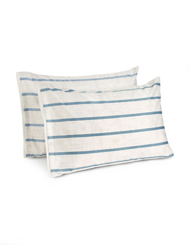 Hotel Collection Two-Piece Colonnade Indigo Pillow Shams-BLUE-King