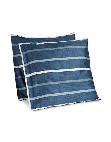Hotel Collection Two-Piece Colonnade Indigo Euro Shams-BLUE-European