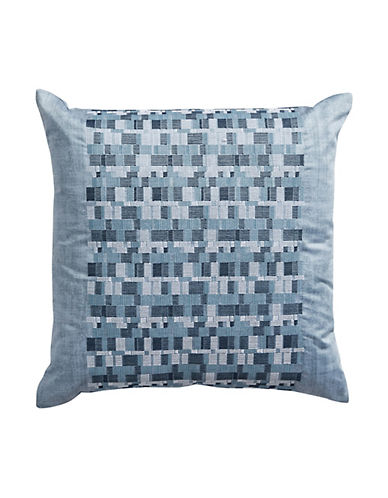 Hotel Collection Colonnade Indigo Square Throw Pillow-BLUE-One Size