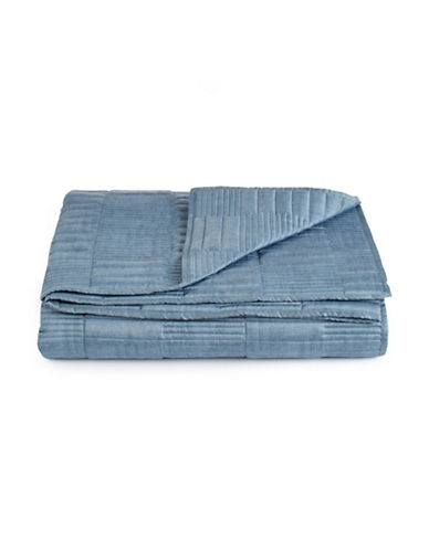 Hotel Collection Colonnade Indigo Quilted Coverlet-BLUE-King