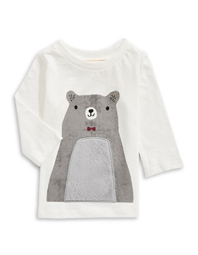 First Impressions Bear T-Shirt-WHITE-18 Months
