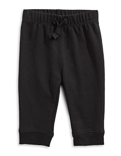 First Impressions Knit Joggers-BLACK-3-6 Months