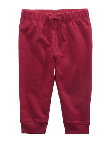 First Impressions Knit Joggers-RED-12 Months