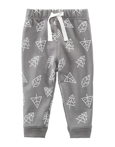 First Impressions Tree Print Joggers-GREY-18 Months