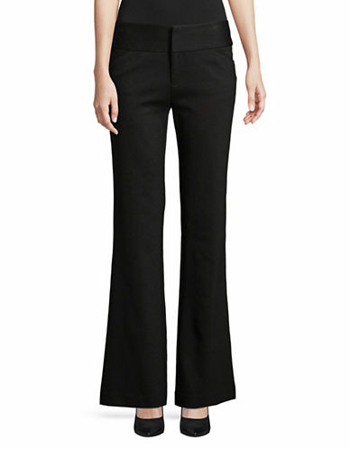 I.N.C International Concepts Ponte Wide Leg Pants-BLACK-8