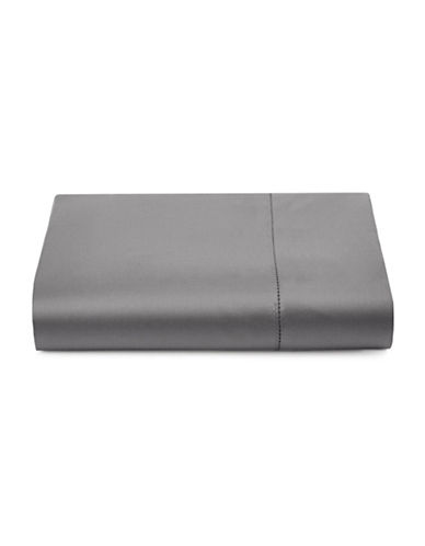 Hotel Collection 600TC Egyptian Cotton Flat Sheet-CHARCOAL-Queen