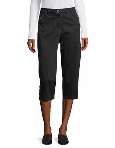 Karen Scott Comfort Waist Capri Pants-BLACK-16