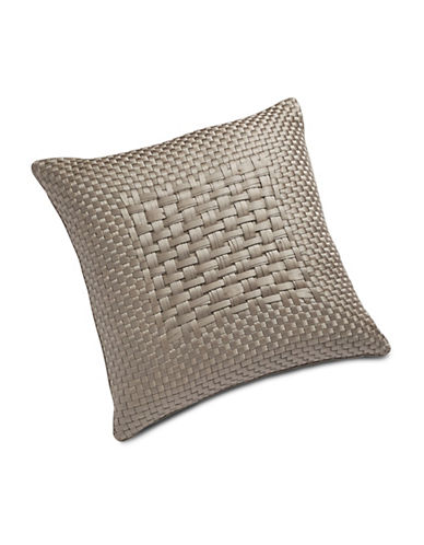Hotel Collection Dimensions Woven Square Cushion-BROWN-One Size