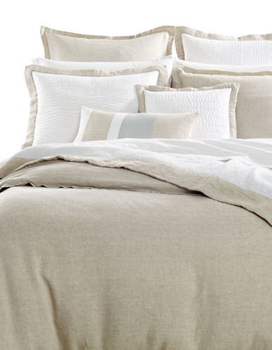 Hotel Collection Linen Duvet Cover-NATURAL-Queen