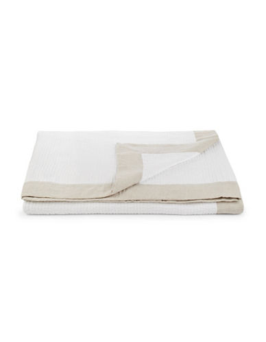 Hotel Collection Voile Border Coverlet-NATURAL-King