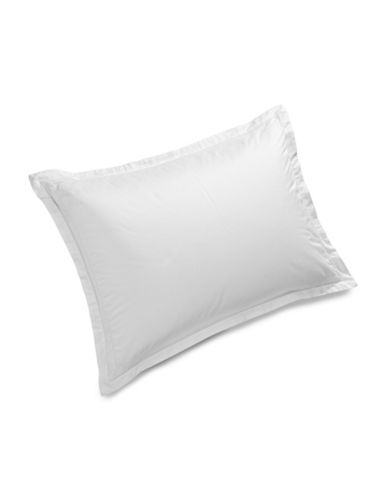 Hotel Collection Eyelet Trim Pillow Sham-WHITE-Standard