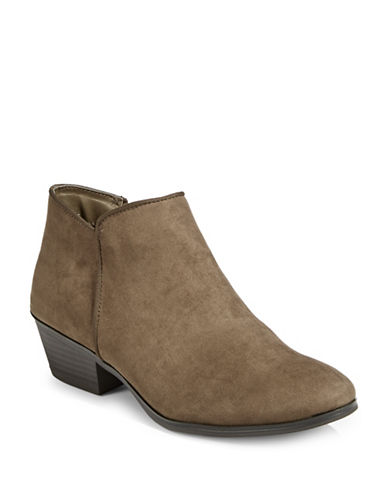 Style And Co. Zip Ankle Booties-GREEN-7