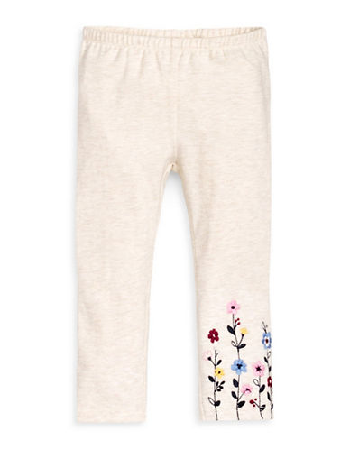 First Impressions Floral Leggings-BEIGE-12 Months