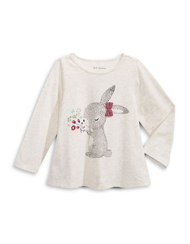 First Impressions Cotton Bunny Sweater-BEIGE-18 Months