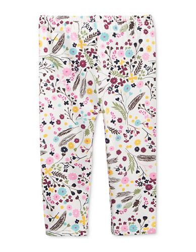 First Impressions Floral Jersey Leggings-WHITE-24 Months