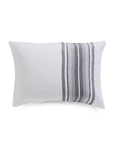Hotel Collection Linen Plaid Pillow Sham-INDIGO-Standard