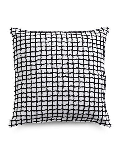 Hotel Collection Linen Plaid Pillow Décor-INDIGO-One Size