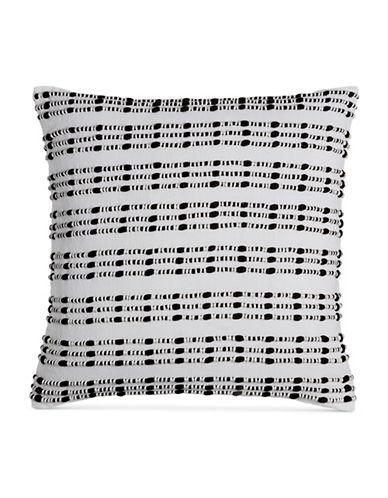 Hotel Collection Linen Decorative Pillow-INDIGO-18x18